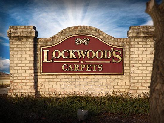 Lockwood's Carpets Sign